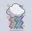 nice rainbow with cloud and stars design vector image