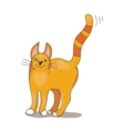 Red Stripped Cat vector image