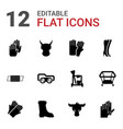 12 protective icons vector image vector image