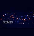 abstract background with shining stars glitter vector image