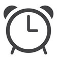 alarm glyph icon web and mobile clock sign vector image vector image