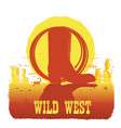 american texas desert with cowboy vector image vector image