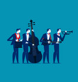 band business team relax concept business vector image