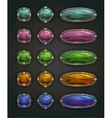 Beautiful magic shiny stone buttons vector image vector image