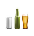beer collection set object on white background vector image