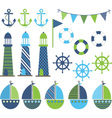 Blue Green Nautical vector image