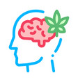 brain and leaf man silhouette headache icon vector image vector image