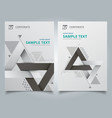 brochure geometric composition forms modern vector image