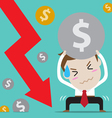 businessman with bad finance vector image