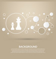 chess icon on a brown background with elegant vector image