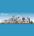 chisinau moldova city skyline with gray buildings vector image vector image
