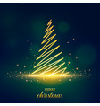 christmas tree postcard background vector image vector image
