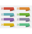 colorful infographic banner template ribbon vector image vector image