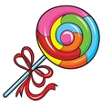 colorful lollipop on white background vector image vector image