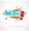 colorful word WINTER with coffee cup vector image vector image