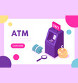 concept atm for web page vector image