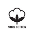 cotton - web black icon design natural fibe vector image vector image
