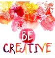 Creativity Watercolor Concept vector image vector image
