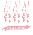 dancing ballerinas in pointe shoes vector image vector image
