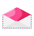 decorative pink envelope vector image