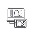 digital drawing line icon concept digital drawing vector image vector image