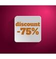 Discount text vector image