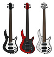 Electric bass guitars vector image vector image