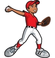 Ethnic Baseball Pitcher vector image vector image