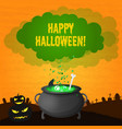festive happy halloween template vector image vector image