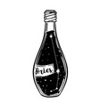 glass bottle with zodiac aries constellation vector image vector image