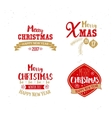 Golden and red colors for Xmas typography vector image
