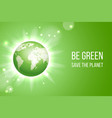 green eco earth background vector image