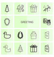 greeting icons vector image vector image