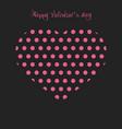 happy valentines day heart polka dot vector image vector image