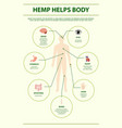 hemp helps body vertical infographic vector image vector image
