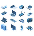 isometric electronic technology 3d wireless gadget vector image vector image