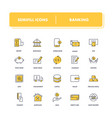 line icons set banking vector image