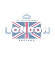 london united kingdom t-shirt printing design vector image vector image