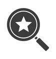 magnifying glass with star glyph icon vector image vector image