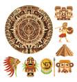 mayan or aztec culture maya calendar mexican vector image