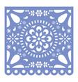 mexican papel picado cutout design fiesta vector image vector image