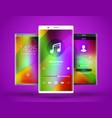 mobile interface wallpaper design abstract vector image vector image