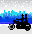motorcycle travel vector image vector image