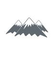 Mountain icon vector image