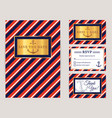 nautical wedding invitations vector image
