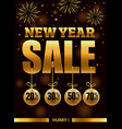 new year sale banner with fireworks vector image vector image
