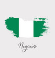 nigeria watercolor national country flag icon vector image