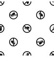 no flea sign pattern seamless black vector image vector image