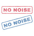 no noise textile stamps vector image vector image