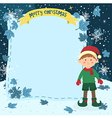 Notes Christmas Elf Boy vector image